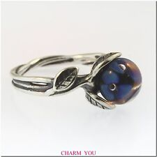 AUTHENTIC TROLLBEADS BLUE FLOWER RING STERLING SILVER