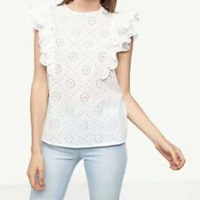 New Womens Ladies Floral Hollow Ruffled Detail Sleeveless Blouse Tops Shirt