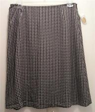 NEW  TALBOTS Womens  Silk Skirt Blak White 10 Misses NWT