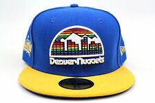 Denver Nuggets Blue Yellow 2005 All Star Game Patch New Era 59Fifty Fitted Hat