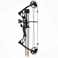 SAS Rex 25-55 Lb Quad Limb Compound Bow Package w/ Bow Sight, Arrow Rest, Quiver