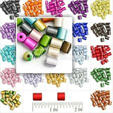 20/25pcs 3D Illusion Acrylic Miracle Beads Cylinder Jewelry Findings 8mm 10mm