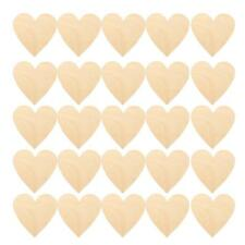 25pcs Wooden Wood Love Heart Pieces Unfinished Kids DIY Painting Party Crafts