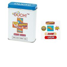 Ouch! Comic Strip Kids First Aid Tin Plasters (24 Pack) Quanity Choice.......