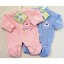 Velour Sleeper Suit Prem Baby 2 sizes 2 colours Bear design small baby, newborn