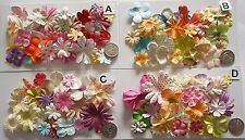 SCRAPBOOKING NO 432 - 18 PRIMA PAPER FLOWERS - 4 DIFFERENT PACKS AVAILABLE