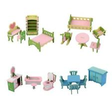 Colorful Wood 1:12 Dollhouse Miniature Furniture Doll Room Set Decor Collections