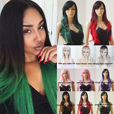 Best Ombre Wigs For Womens Girls 100% Heat Resistant Synthetic Hair Costume Wigs