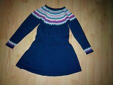 CHEROKEE LITTLE GIRLS NAVY BLUE SWEATER DRESS SIZE 5T