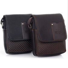 Men's Faux Leather Business Briefcase Crossbody Messenger Shoulder Bag Glitzy