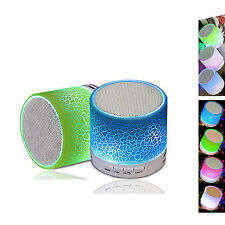 Led Light Stereo Headphone Bluetooth Speaker w/Mic for iPhone ipod Tablet Phones
