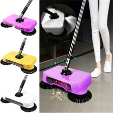 Hot LED Light Automatic Hand Push Sweeper Spin Broom Household Floor No Electric