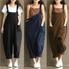 Fashion Womens Oversized Dungaree Jumpsuits Overalls Loose Harem Pants Trousers