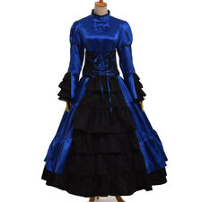 Vintage Victorian Ball Gown Gothic Reenactment Cosutme Dress Dress 4 Colors