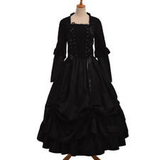 Vintage Victorian Puff Sleeve Ball Gown Gothic Corset Reenactment Cosutme Dress