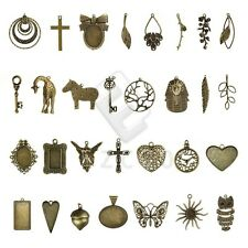 2-35pcs Antique Brass Metal Pendant Charms Supplies Jewelry Making 30 Style YB
