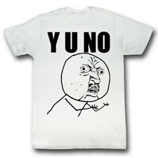 Y U No Guy Meme Trending #YUNo Y U No? Stick Figure Guy Adult T-Shirt
