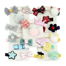 5Pcs/set Fluffy Tails Flower Star Hairpin Hair Clip Bow Baby Girl Kids Barrettes