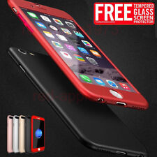 Slim Hard Front+ Back +Tempered Glass Full Body Protected Case For iPhone 7 Plus