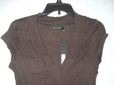 New Women's The Limited V-Neck Knit Top - Brown - Sizes: M or L - NWT $26.50