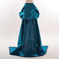 Burlesque Trailing Overskirt Victorian Steampunk Gothic Bustle Train Rococo Gown