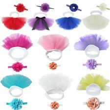 Cute Newborn Baby Girl Tutu Skirt & Headband Photo Prop Costume Outfit 0-3 M