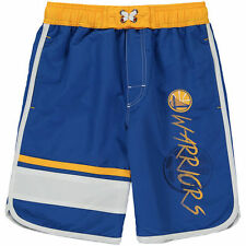 Golden State Warriors Youth Color Block Swim Trunks - Blue/White - NBA