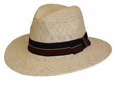 Mens Best Quality Classic Straw Trilby Fedora Style Summer Sun Hat