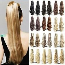 Jaw Ponytail Clip in Hair Extension Claw Pony tail Natural As Human UK Hairpiece
