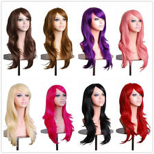 Glueless Wig Heat Resistant Synthetic Hair Halloween Costume Cosplay Wigs Long