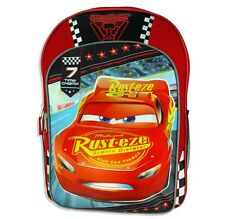 "DISNEY CARS 3 McQUEEN Boys 16"" Full-Size Backpack w/Optional Insulated Lunch Box"