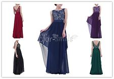 Women Long Formal Prom Dress Cocktail Party Evening Bridesmaid V-back Dresses