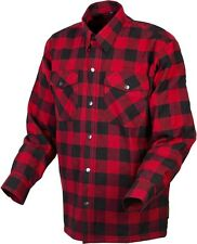Scorpion Covert - Lined Classic Flannel Motorcycle Shirt - Red/Black