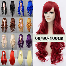 "23-32"" Cosplay Wig Heat Resistant Synthetic Hair Ombre Hair Costume Full Wig US"