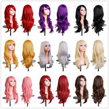 Cosplay Wig 130% Denisty Heat Resistant Synthetic Hair Wig Long Straight & Curly