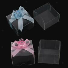 12pcs Clear Ribbon Pacifiers Candy Boxes Baskets Baby Shower Birthday Gift Favor