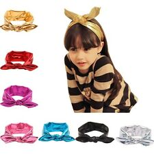 1pc Kids Girl Baby Rabbit Ear Headband Toddler Bow Infant Hair Band Accessories