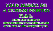 Custom Printed, Personalised Football Flags Design your own flag or we design it