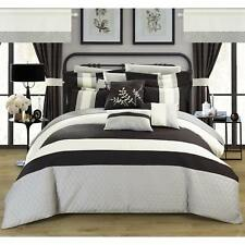 Chic Home Lorena Black 24-piece Bed in a Bag with Sheet Set Black