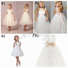 Kid Princess Formal Communion Wedding Pageant Birthday Party Flower Girl Dresses