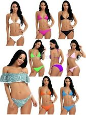 Women Bikini Set Push-up Bra Swimsuit Swimwear Triangle Bathing Suit Bikini Top