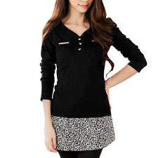 Women Long Sleeve Stretchy Autumn Leisure Knit Shirt
