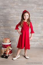 NWT Lemon Loves Lime Girls Holiday Cherub Dance Red Dress sz 2 3