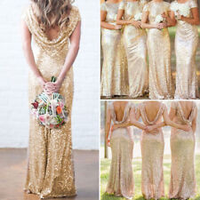 Women Evening Dress Bridesmaid Formal Cocktail Party Ball Prom Wedding Dresses
