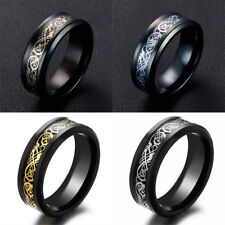 8mm Celtic Dragon Tungsten Carbide Ring Mens Jewelry Stainless Steel SZ7-9/US
