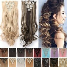 UK Full Head Clip In Hair Extensions 8 Pieces Real As Remy Human Hair Extension