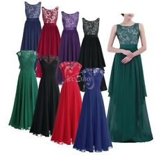 Women's Elegant Bridesmaid Wedding Evening Dress Cocktail Formal Party Prom Gown