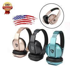 Foldable Stereo Handfree Bluetooth Wireless Headset SD Card Headphones+Call Mic