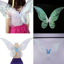 Shiny Color Changing Butterfly Angel Fairy Wing Adult Kid Women Girl Fancy Dress