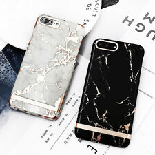Luxury Rose Gold Marble Print Hard Plastic Phone Case for iphone 6 6s 7 8 Plus